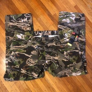 Under Armour Forest Camo Hunting Cargo Pants 44x32